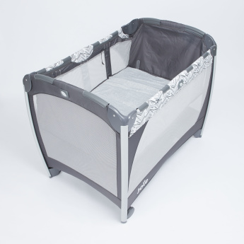 Joie Printed Travel Cot with Wheels