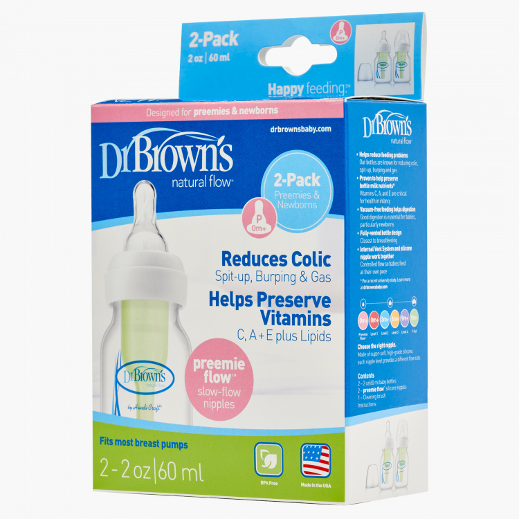 Dr. Brown's Milk Bottle - 2 Oz