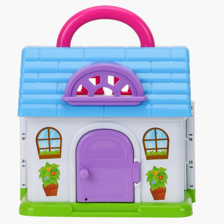 Keenway Carry-Along Doll House Playset