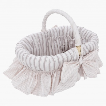 Juniors Striped Wicker Basket