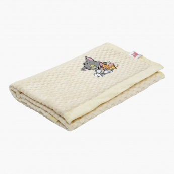 Tom and Jerry Embroidered Blanket