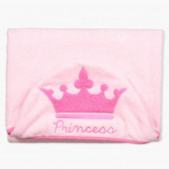 Disney Princess Crown Embroidery Towel with Hood