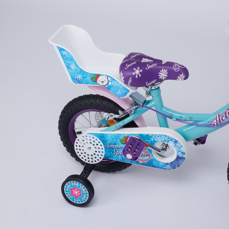 Juniors Snow Printed Bike with Padded Seat - 12 inches
