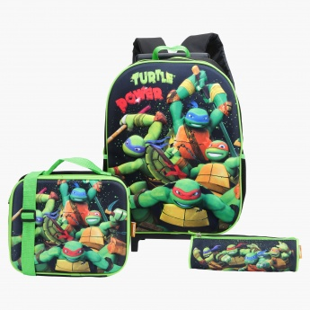 Ninja Turtle Print 3-Piece Backpack Set