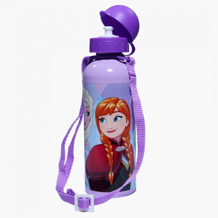 Frozen Print Water Bottle with Strap - 500 ml