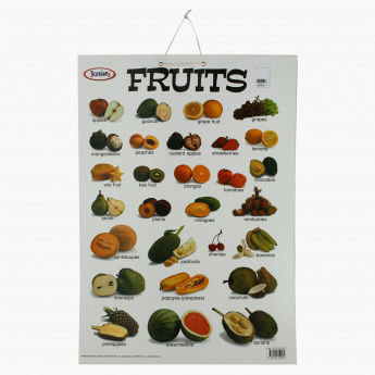Sterling Fruits Double-Sided Chart