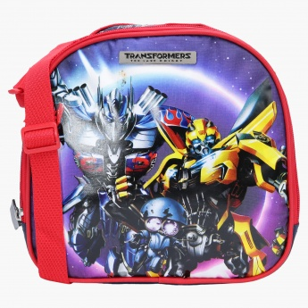 Transformers Printed Lunch Bag with Zip Closure