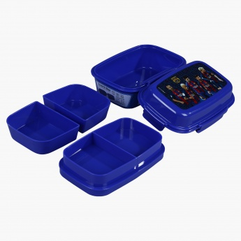 FCB Printed Lunch Box with 4-Clip Closures and 3 Trays