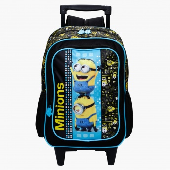 Minions Printed Trolley Backpack