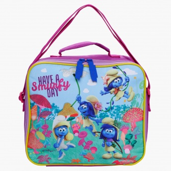 The Smurfs Printed Lunch Bag with Zip Closure