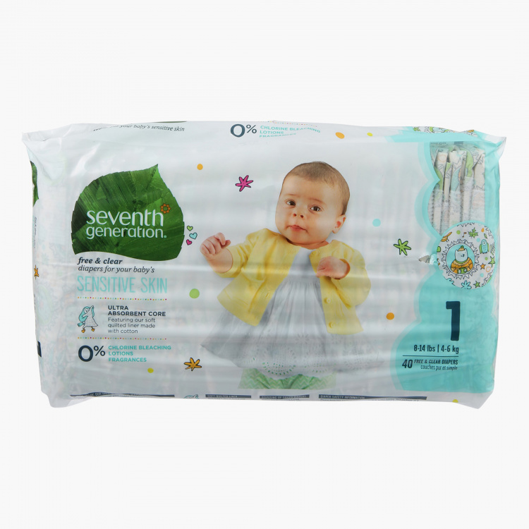 Seventh Generation 40-Piece Diaper Pack
