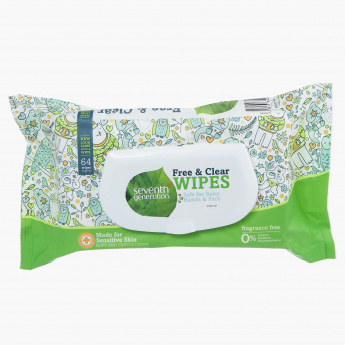 Seventh Generation Free and Clear Baby Wipes - Set of 64