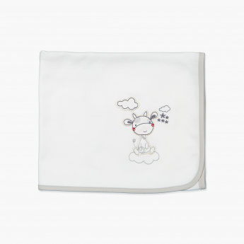 Juniors Embroidered Receiving Blanket - 80x80 cms