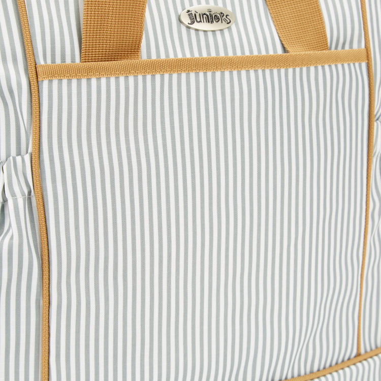 Juniors Striped Diaper Bag with Changing Mat