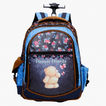 Forever Friends Printed Trolley Bag