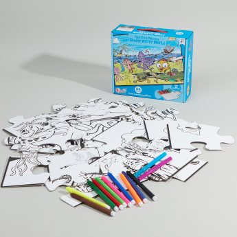 Under Water Worl 24-Piece Puzzle and Painting Set