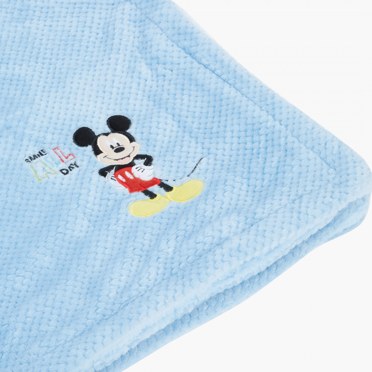 Mickey Mouse Embroidered Blanket - 76x102 cms