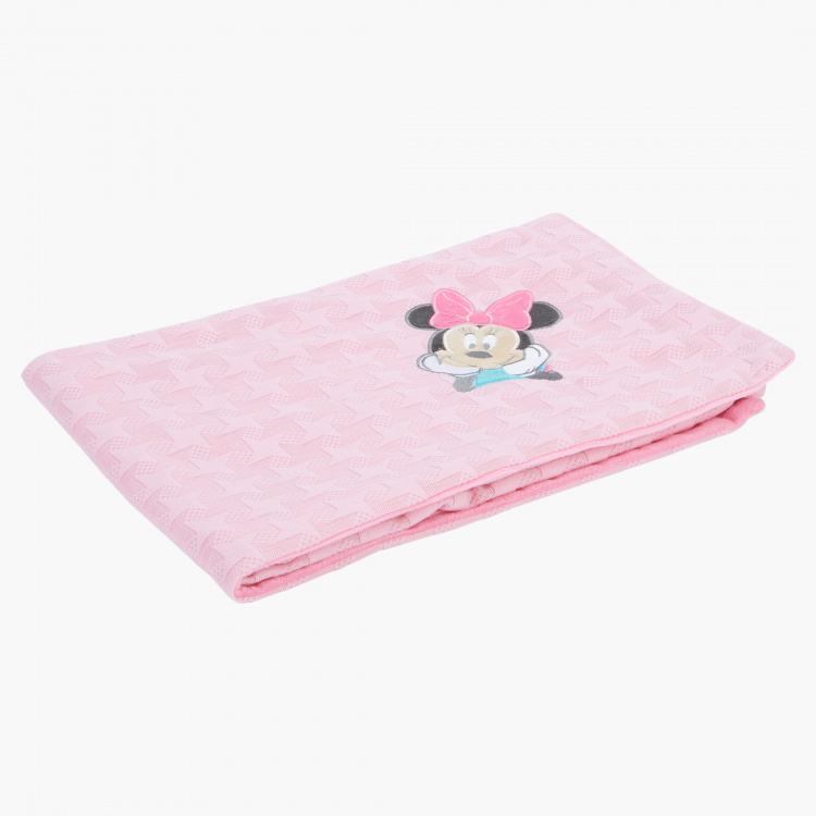 Minnie Mouse Embroidered Textured Blanket