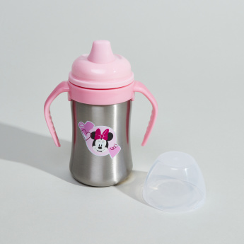 Minnie Mouse Printed Sippy Cup with Handle