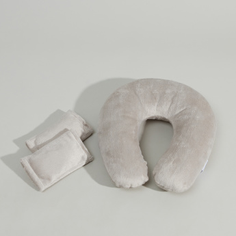 Juniors Textured Neck Pillow Travel Set