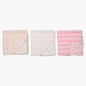 Juniors Printed Receiving Blanket - Set of 3