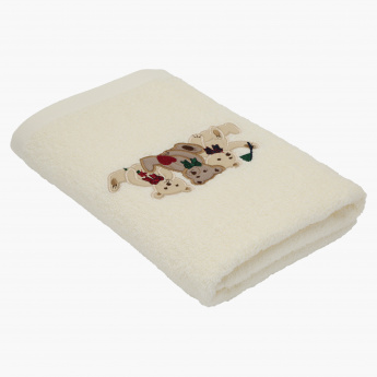 Juniors Applique Detail Bath Towel - 60x120 cms