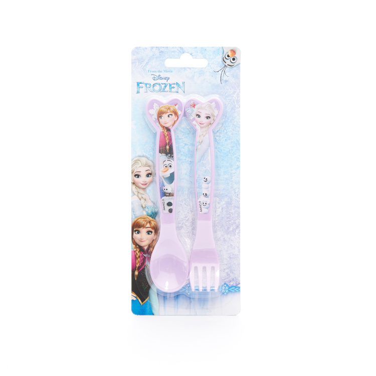 Frozen Printed Fork and Spoon Set