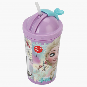 Frozen Print Sipper Water Bottle