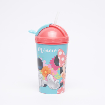 Mickey Mouse and Minnie Mouse Printed Sipper Bottle