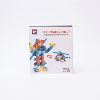 Deformation Bricks 75-Piece Helicopter Playset