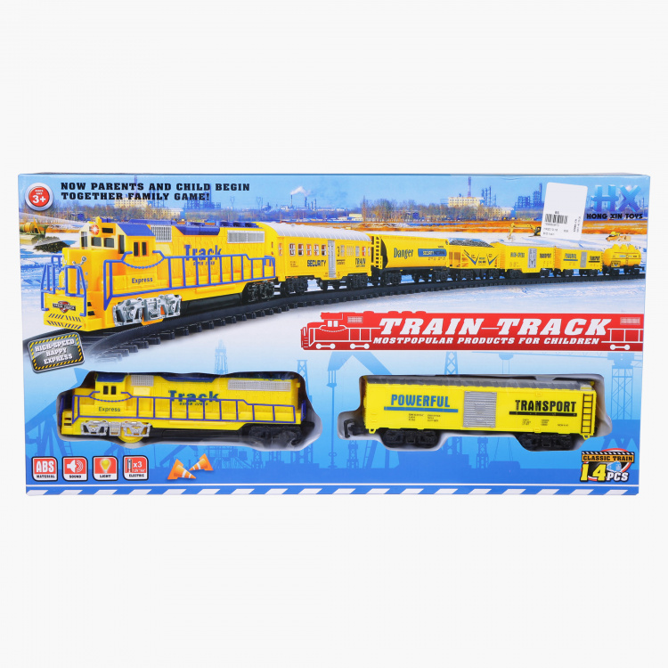 14-Piece Train and Track Playset
