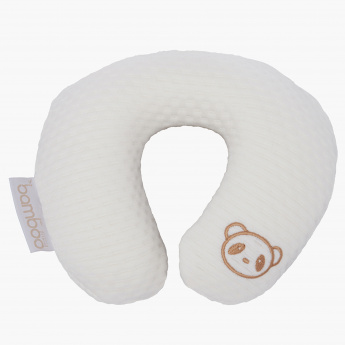 CuddleCo Embroidered Memory Foam Neck Pillow