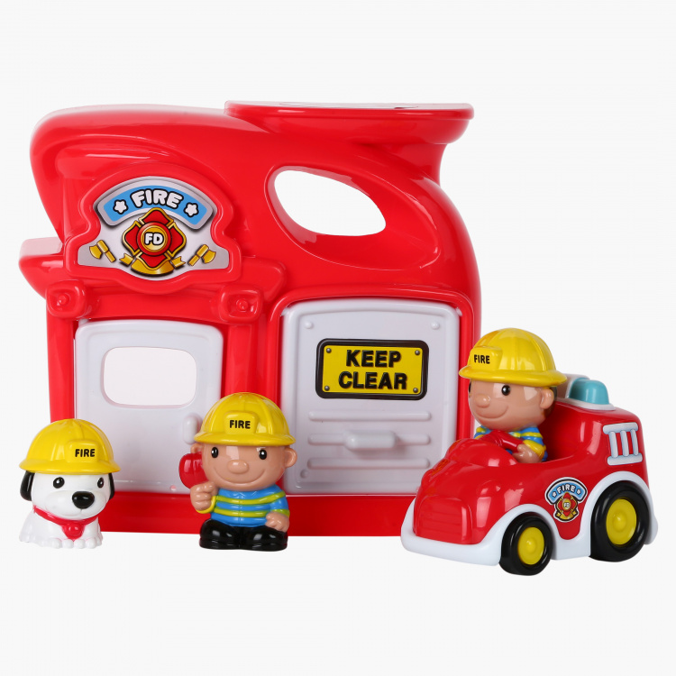 Keenway Mega City Fire Station Playset