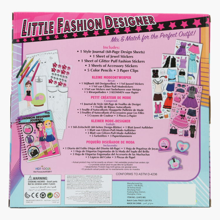 Little Fashion Designer Playset Multicolour Let Your Girl Design Her Own Look From Head To Toe