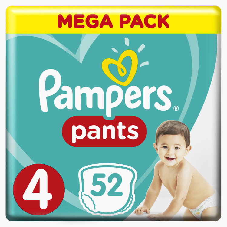 Pampers Maxi Size 4, 52-Diaper Pants Jumbo Pack - 9 to 14 kgs