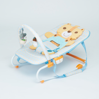 Juniors Printed Rocker with Detachable Toy Bar and Headrest