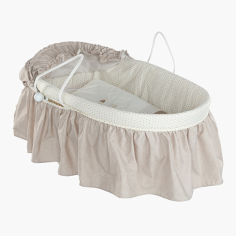 Juniors Frill Detail Baby Moses Basket