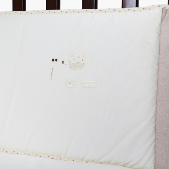Juniors Elephant Embroidered Cot Bumper