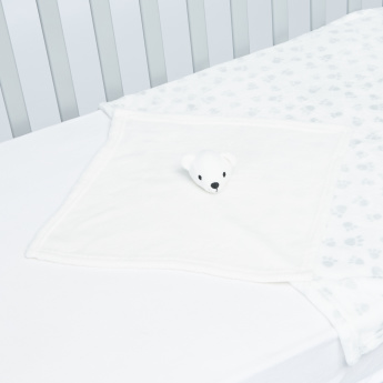 Juniors Paw Printed Blanket with 3D Blankie - 75x75 cms