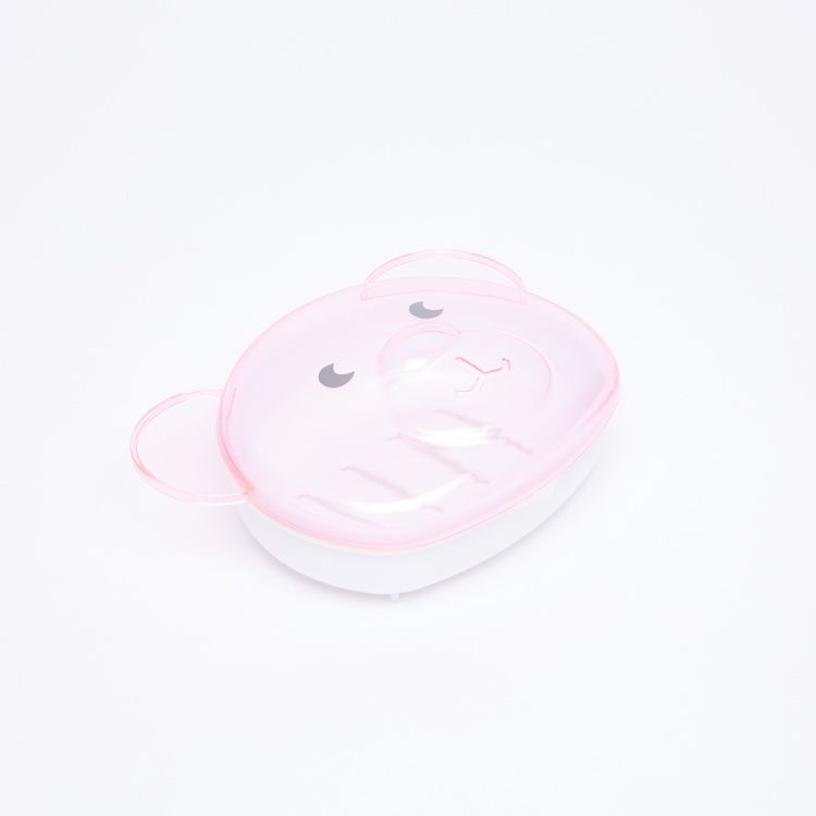 Soap Dish with 3D Bear Detail Lid