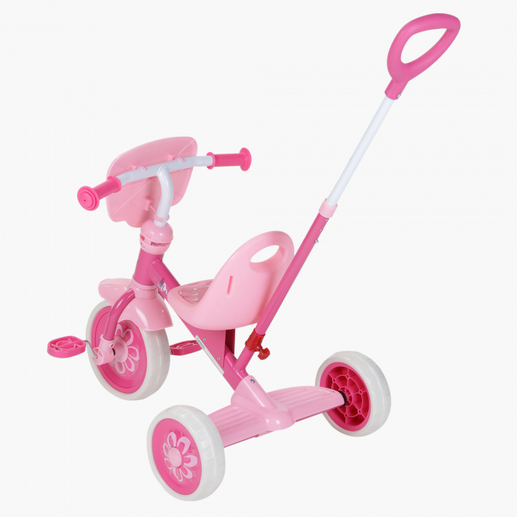 Disney Princess Printed Tricycle with Pushbar