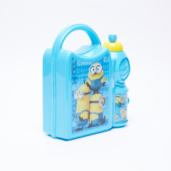 Minions Printed Water Bottle Combo Set