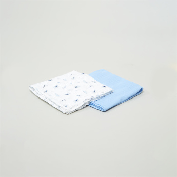 Juniors Assorted 2-Piece Baby Wrap Blanket - 91x101 cms