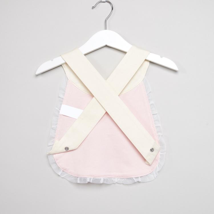 Juniors Bow and Lace Detail Bib