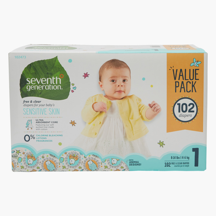 Seventh Generation 102-Piece Diaper Pack