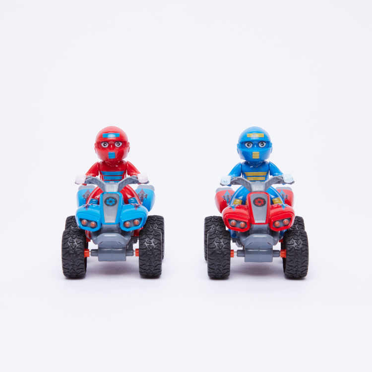 Friction 2-Piece Motorcycle Toy