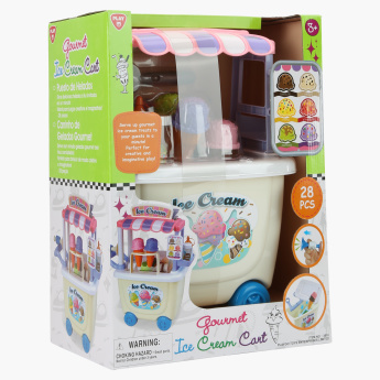 Playgo Gourmet 28-Piece Ice Cream Cart Playset