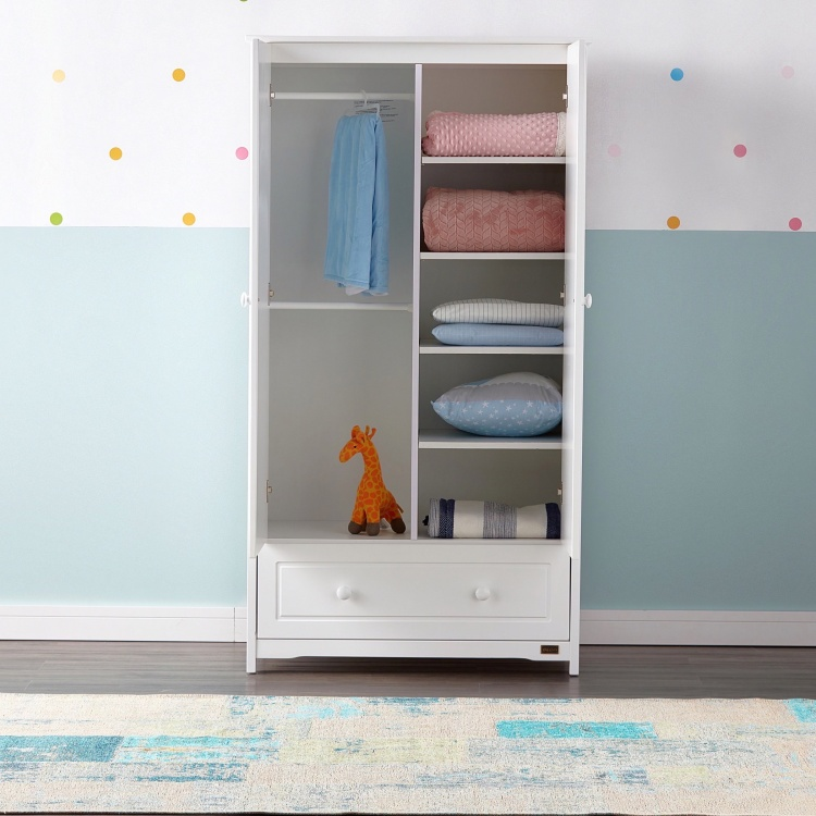 Giggles Patricia Double Door Wardrobe with Drawer