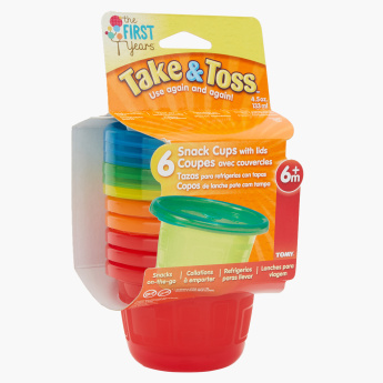 The First Years Take & Toss Snack Cup – Set of 6