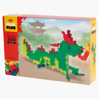 Plus-Plus Mini Neon Dragon 360-Piece Bricks Set